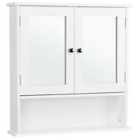 Bathroom Wall Mount Medicine Cabinet Storage Cabinet with Mirror Doors