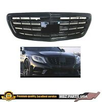 S65 Grille S-CLASS S550 All Black Gloss AMG MAYBACH S65 2015 2016 2017 W222 New