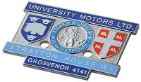 MG UNIVERSITY MOTORS LTD. STRATTON HOUSE DASH PLAQUE