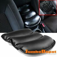 Black Leather Car Center Console Armrest Storage Box Pad Cover Cushion Cowl Mat