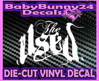 THE USED Script Band Logo Vinyl DECAL Sticker Laptop Truck and Car Rock Metal