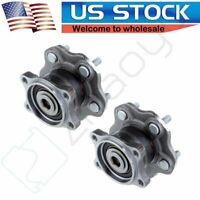 2 Rear Wheel Hub & Bearing Assembly Set Pair New for Nissan Altima Quest w/ ABS