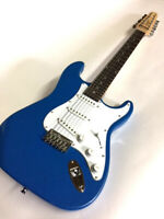 NEW 6 STRING MAPLE Tele STYLE VINTAGE PELHAM BLUE METALLIC ELECTRIC GUITAR