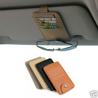 Sun Visor Multifunction Card Holder Glasses Storage Organizer Car Hanging Pouch
