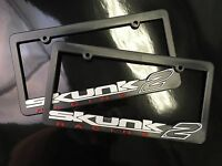 (2) SKUNK2 RACING License Plate Frames Go Faster Live The Dream Fits ALL US CARS