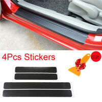 4 Pcs 4D Carbon Fiber Car Accessories Door Sill Scuff Protector Stickers