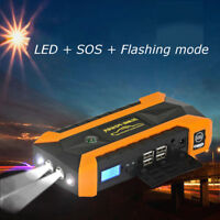 89800mAh LED 4 USB Car Jump Starter Pack Booster Charger Battery Power Bank