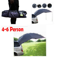 Car SUV Awning Camper Trailer Roof Top Family Tent for Beach Camping 4-6 Person