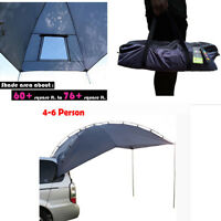 Car SUV Trailer Awning Portable Tent Sun Shelter Canopy Waterproof 4-6 Person