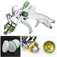 Aluminum Paint Coating Air Spray Gun Kit Gravity Feed Car Primer 600cc PVC Cup