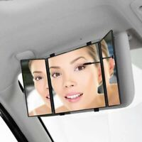 Zone Tech Car Folding Visor Vanity Mirror Makeup Travel Cosmetic Tri-Fold Mirror