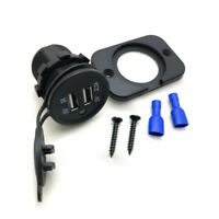 Waterproof 3.1A Dual USB Port Charger Socket Outlet 12V LED For Motorcycle Car