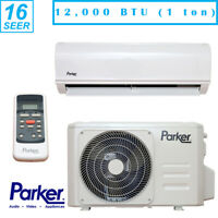 Parker 12000 BTU 1 Ton 16 SEER Air Conditioning Ductless Mini Split