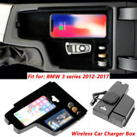 Car Wireless Charging Consoles Armrest Box For LHD BMW 3 Series F30 F31 F32 F34