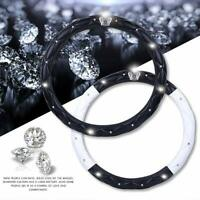 Queen's Auto Steering Wheel Cover with Noble Crown + Bling Diamond + Exquisite