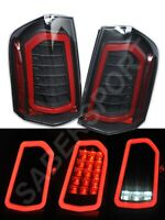 Set of Pair Eagle Eyes Black Full LED Taillights for 2011-2014 Chrysler 300