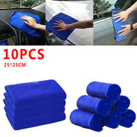 10x Microfiber Washcloth Car Care Cleaning Towels Soft Cloths Tool Accessories