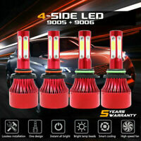 9005+9006 6000K 672000LM Combo 4-Side CREE LED Headlight Kits High Low Lamp Bulb