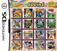 500in1 Video Game Card Games Cartridge Multicart For DS NDS NDSL NDSi 2DS 3DS US