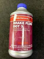 GENUINE HONDA DOT 3 BRAKE FLUID 12 OZ BOTTLE 08798-9008