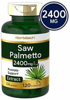 SAW PALMETTO 2400 mg Support Prostate Urinary Health Extract Supplement 120 Caps