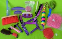 Big NEW Lot (15)Horse Supplies~Grooming Brushes~HALTER~LEAD~Shedding~Hoof Picks