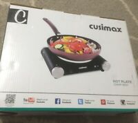 Cusimax Countertop Burners Electric Hot Plate For Cooking Portable Single 1500W