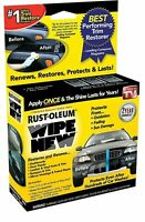 Wipe New TRIM RESTORER Faded Plastic Bumpers Dashboard Panels Vinyl  CAR CARE