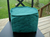 Hunter Green Appliance Cover  4 Qt round crockpot Solid Quilted Fabric LAST ONES