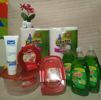 household cleaning supplies bundle lot dishwasher pods/ packs, dw liquid, spray