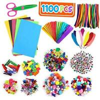 Koogel 1100 pcs Pom Poms Arts and Crafts,13 Kinds Kids Craft Supplies Craft