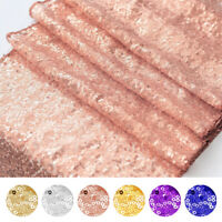 Glitter Sequin Table Runner Shinny Tablecloth Linens Sparkly Party Wedding Decor