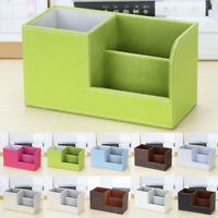 Multifunction Case Bedroom Supplies Office Stationery Storage Box PU Leather New