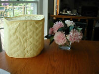 Yellow 6 Qt. Crockpot Appliance Cover Round, solid, quilted fabric FEW LEFT