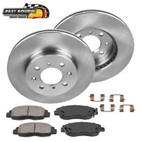 Front Brake Rotors and Ceramic Pads For CIVIC COUPE SEDAN HATCHBACK INSIGHT
