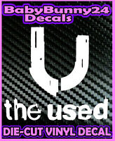 THE USED U Band Logo Vinyl DECAL Sticker Laptop Truck and Car Rock Metal