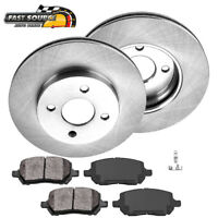 Front 256 mm Brake Rotors And Metallic Pads Chevy Cobalt Saturn Ion Pontiac G5