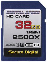 Digital Speed Memory 32GB 2500X Professional High Speed 350MB/s Error Free SDHC