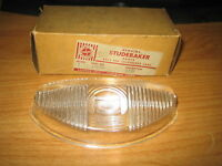 NOS 1952 Studebaker Glass Parking Light Lamp Lens