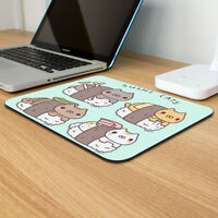 Sushi Cats Japan Lovers Mousepad Gaming Desktop Accessories