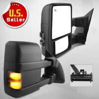 Pair for 1999-2007 Ford F250 F350 SuperDuty Power Heated Tow Mirrors Turn Signal