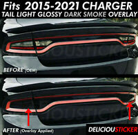2015-2020 CHARGER Tail Light SMOKE Rear PreCut Tint Overlays Vinyl SRT HEMI Wrap