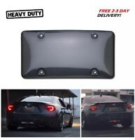 Auto Car Clear Tinted License Plate Cover Smoked Bubble Shield Tag Black