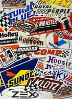 Racing Decals Sticker Lot Set 26+ In Pairs Grab Bag Race Cars Go Karts Toolboxes