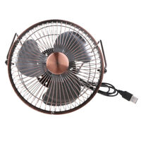 6'' Bronze USB Powered Mini Portable Desktop Cooling Desk Fan For Computer