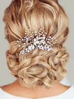 Unicra Wedding Hair Combs Hair Accessories with Bead and Rhinestones for Women,