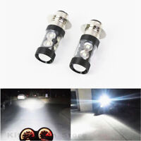 2x 100W LED Super White HeadLight Bulbs For Honda TRX 250 300 400 450 700