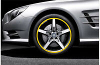 Car Accessories Car Tire Yellow Trim Strips Motorcycle tyre decoration