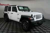 Jeep Wrangler Sport 4WD V6 SUV Backup Camera Keyless Entry 2018 Jeep Wrangler JL Unlimited Sport 4WD V6 SUV Backup Camera Keyless Entry