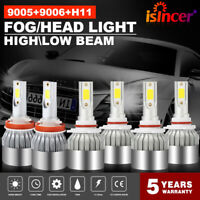 Combo 9005 + H11 + 9006 CREE LED Headlight Kit Hi Low Beam 6000K 4950W 744750LM